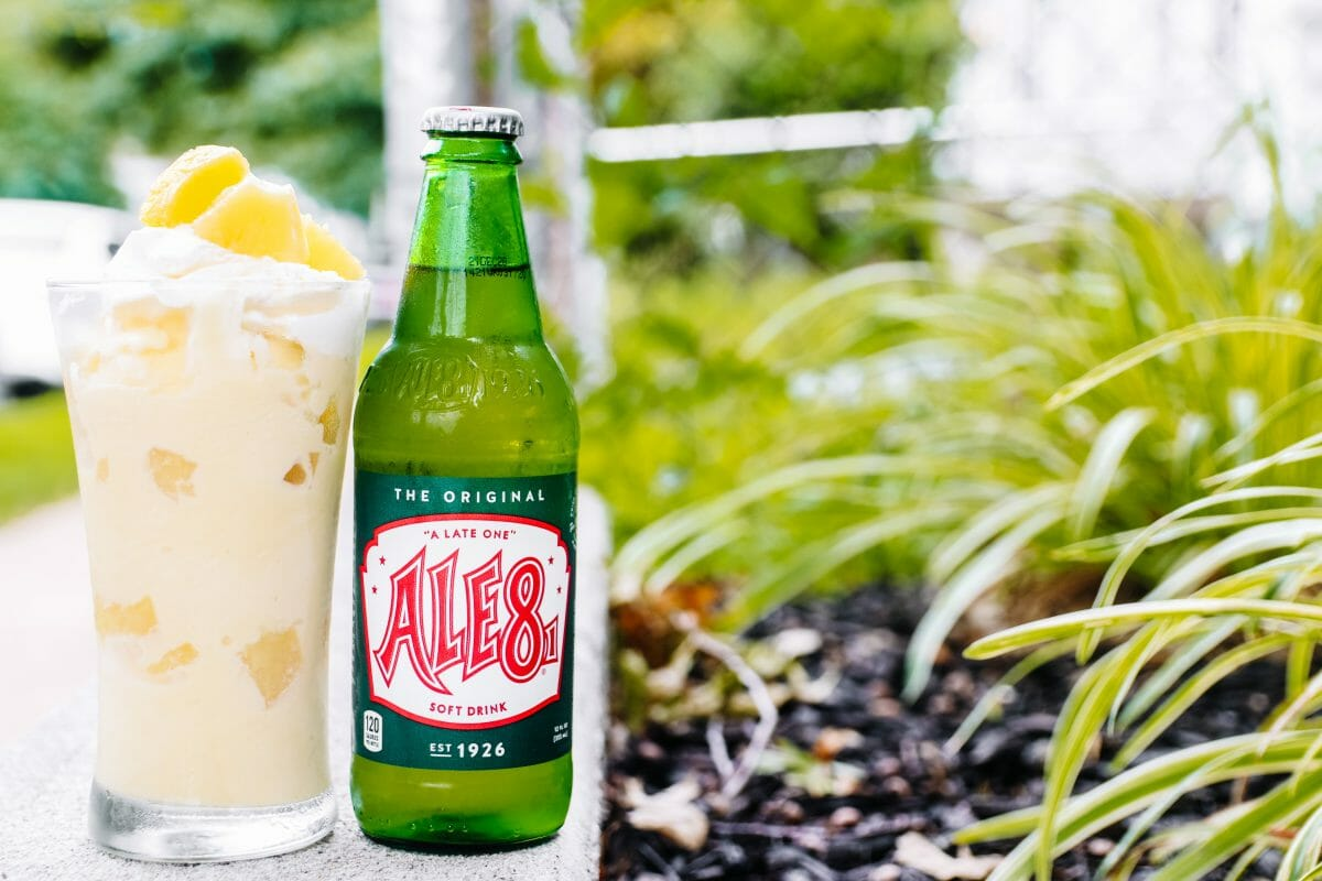 Homemade Pineapple Ice Cream Photo With Ale 8 One by JC Phelps of JCP Eats, A Kentucky Blog