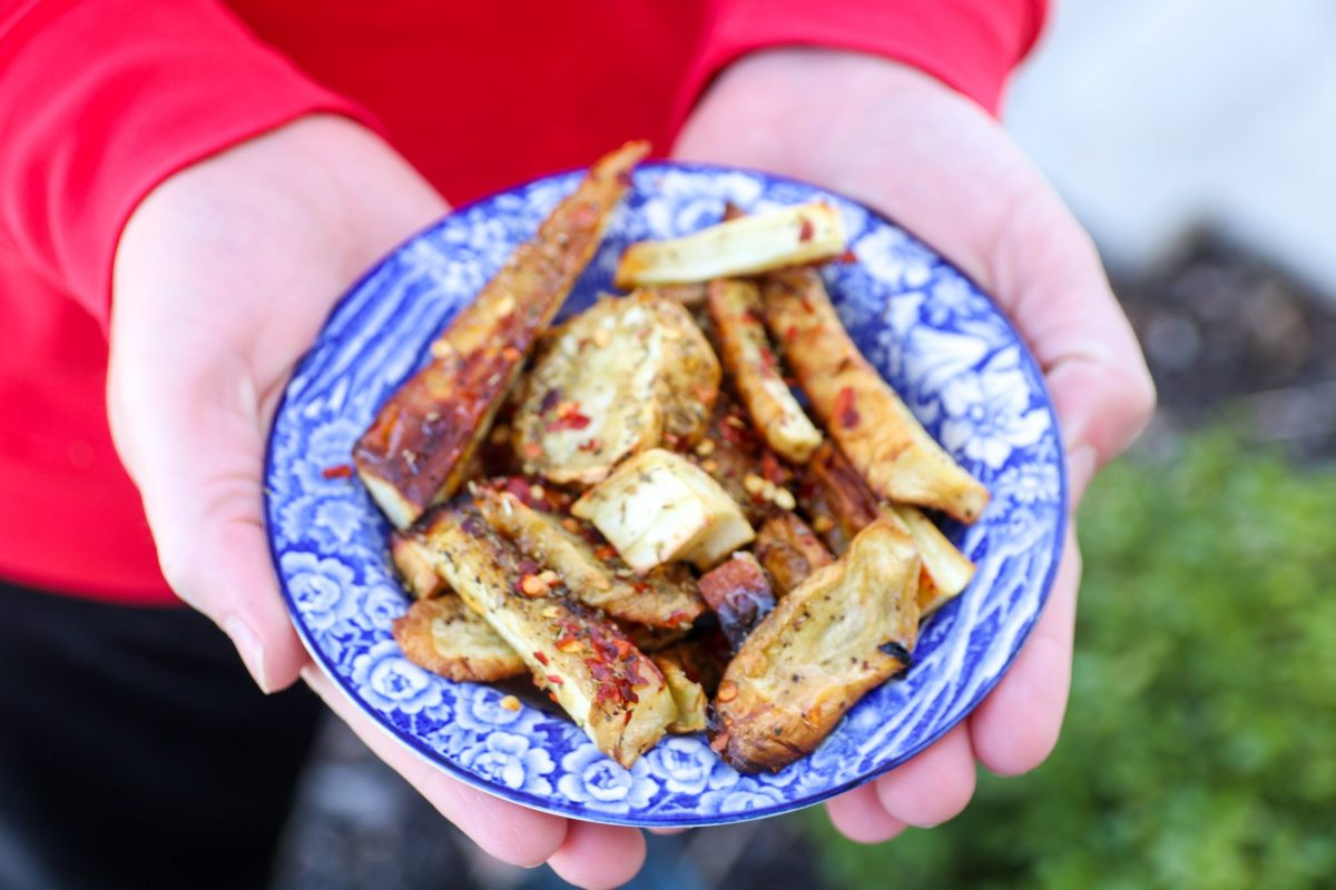 Pan-Roasted Ginger Parsnips